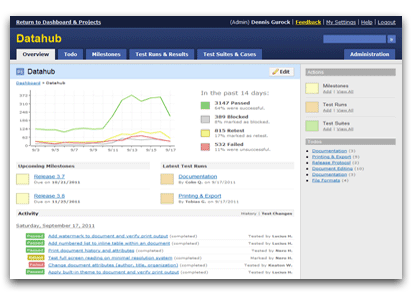 A screenshot of DataHub one of the best Localization Testing Tools around.