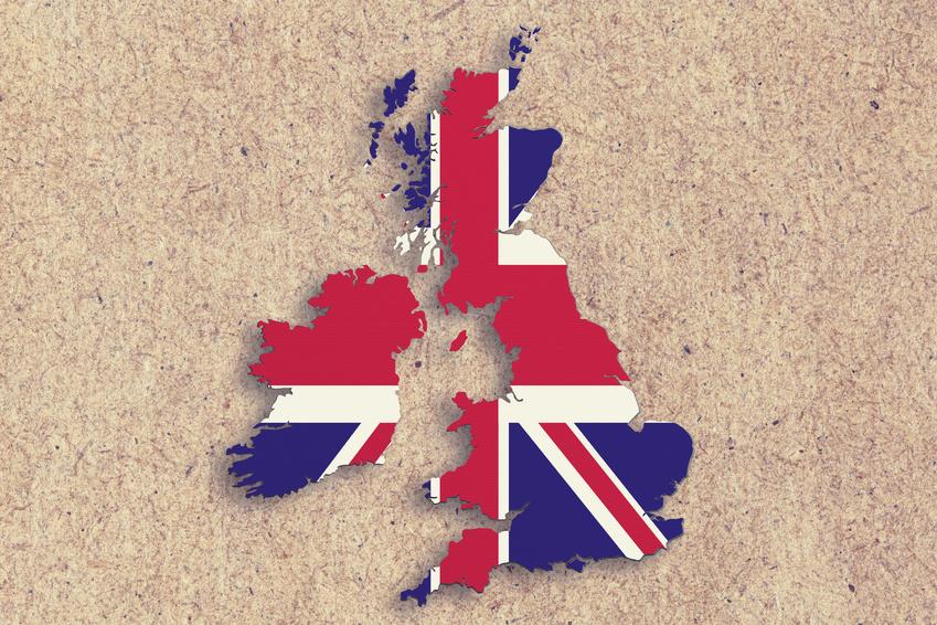 Mapa Wielkiej Brytanii - tłumaczenia język angielski