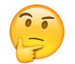 Emoji - zastanawia się