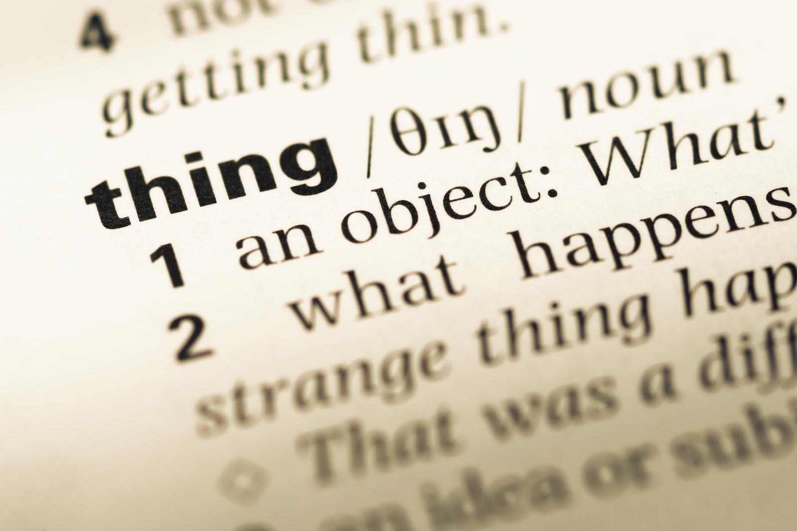 thing word - summalinguae.com