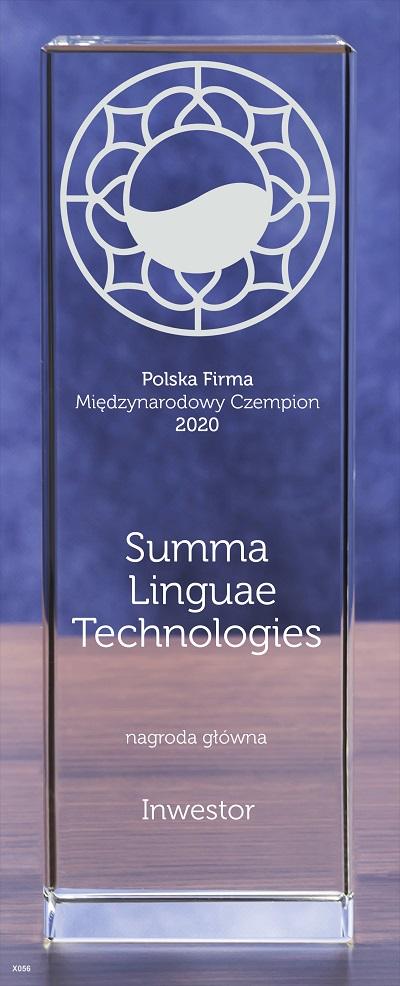 Summa Linguae PFMC Award