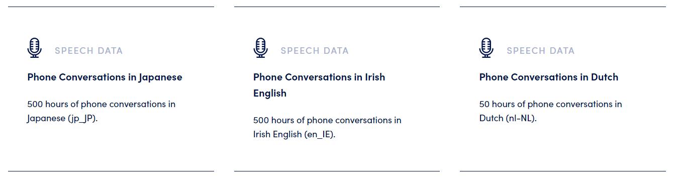 phone conversation data